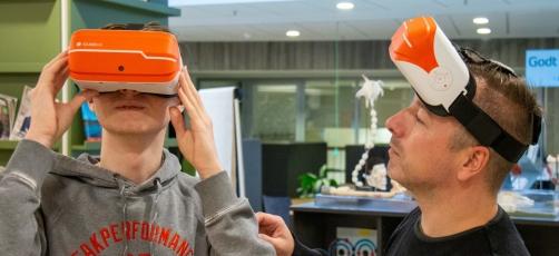 Virtual reality på Randers Social- og Sundhedsskole – hvad kan det?