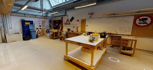 360-graders miljø af et undervisningslokale på U/NORD