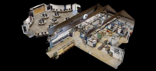 Virtuel rundtur på industriteknikeruddannelsen i et 360°-miljø