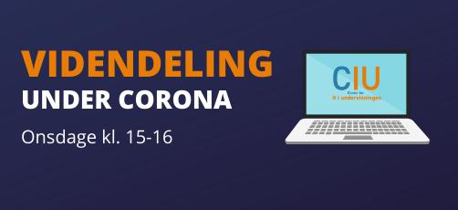 Videndelingswebinarer under fortsat corona-nedlukning