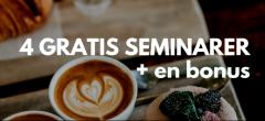 4 gratis seminarer om online handel + en bonus