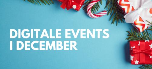 6 digitale events i december 🎄