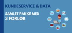 Kundeservice og data | Samlet pakke med forløb