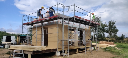 Tiny House bygget med bæredygtige materialer og byggeprocesser
