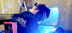 Smedelærling fra EUC Lillebælt forbereder sig til DM i Skills