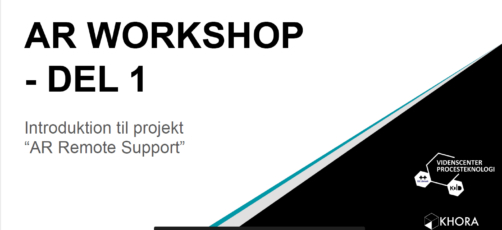 AR workshop – introduktion