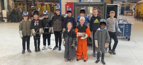Børn trækker i arbejdstøjet på EUC Lillebælt