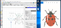 Lav billede om til vektor: Intarsia illustrator 7 RD works