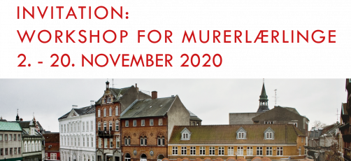 Invitation til murerlærlinge: 1:1 Workshop