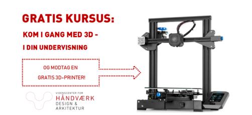 Vanvittigt: Nyt 3D Webinar til undervisere – inkl. gratis 3D-printer