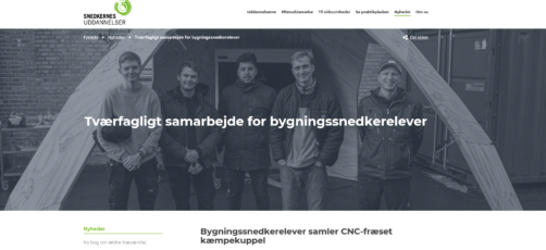 Stor interesse for CNC-projekt hos snedkerlærlinge