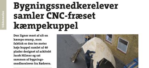 CNC-fræset kæmpekuppel og 3D-webinar på tryk
