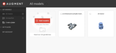 Augmented Reality#4: Augment.com – sådan uploader du 3D/AR modeller