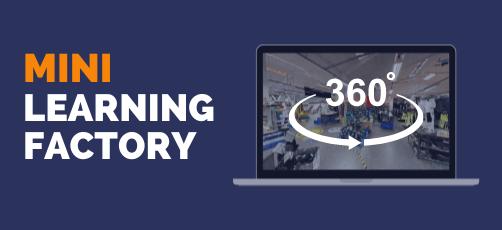 Mini-Learning Factory omvisualisering med 360°-miljøer