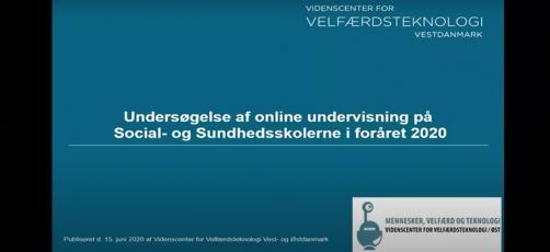 Se eller gense webinaret om online undervisning