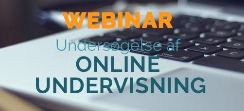 Se eller gense webinar om online undervisning
