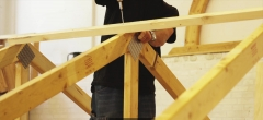 Tømrer GF2: Afstivning af spær (læringsvideo 21)