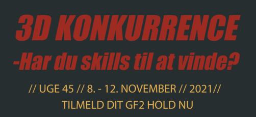 3D-konkurrence for GF2 hold – tilmeld dit hold nu!